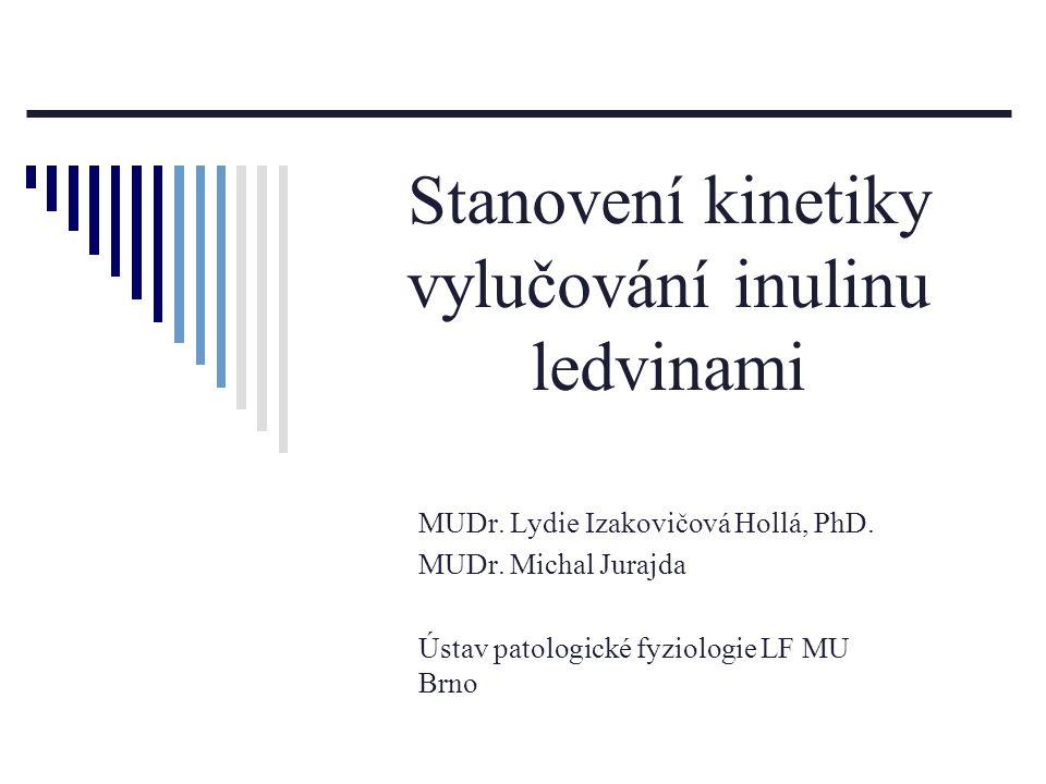 Stanovení kinetiky vylučování inulinu ledvinami