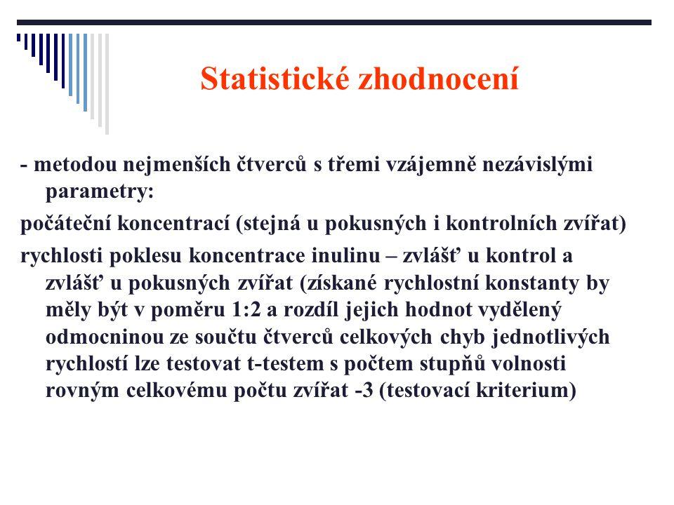Statistické zhodnocení