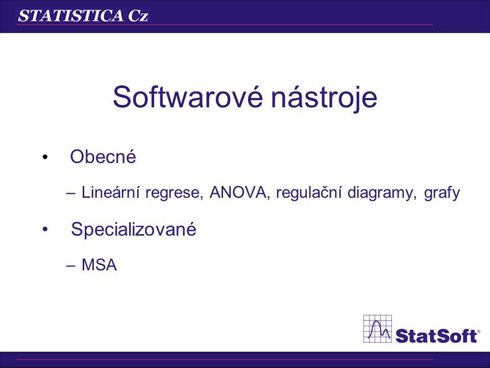 Softwarové nástroje Obecné Specializované