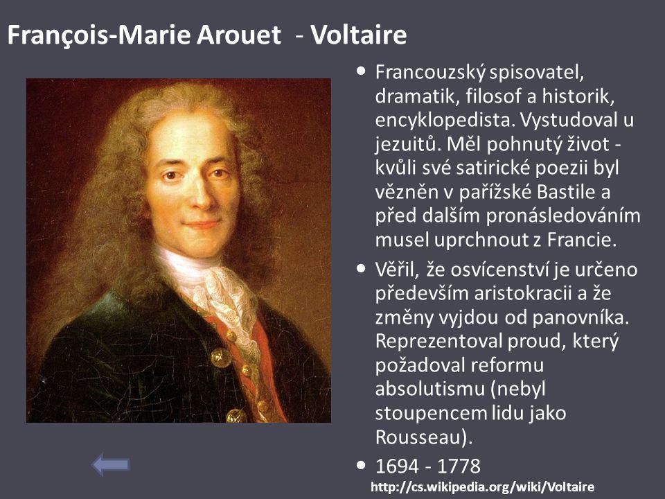 François-Marie Arouet - Voltaire