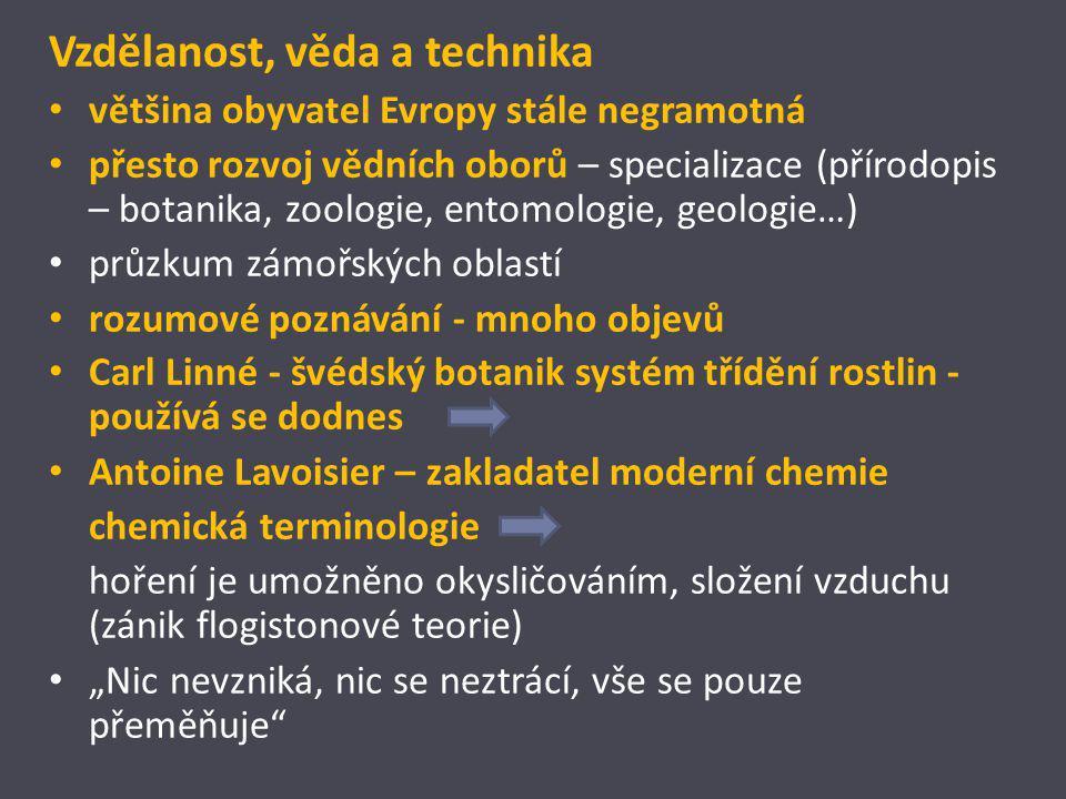 Vzdělanost, věda a technika