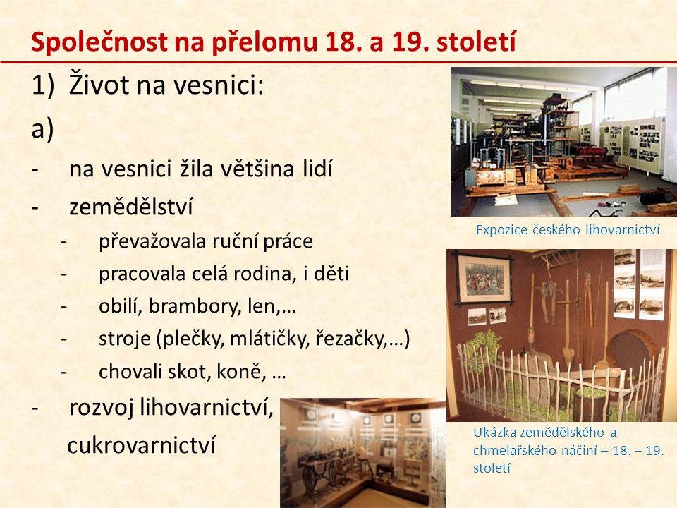 Expozice českého lihovarnictví