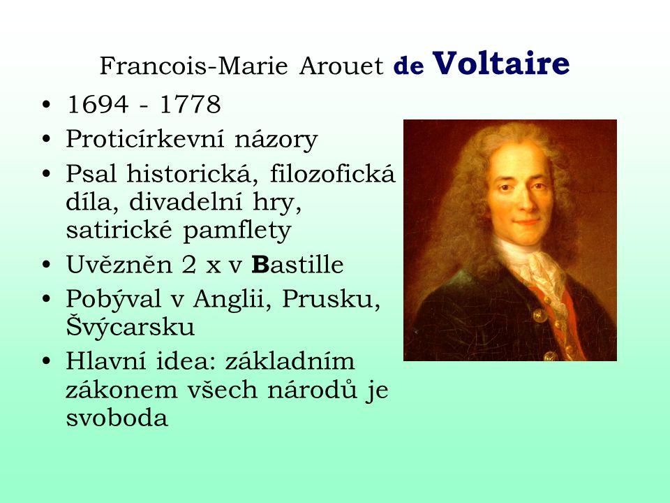 Francois-Marie Arouet de Voltaire