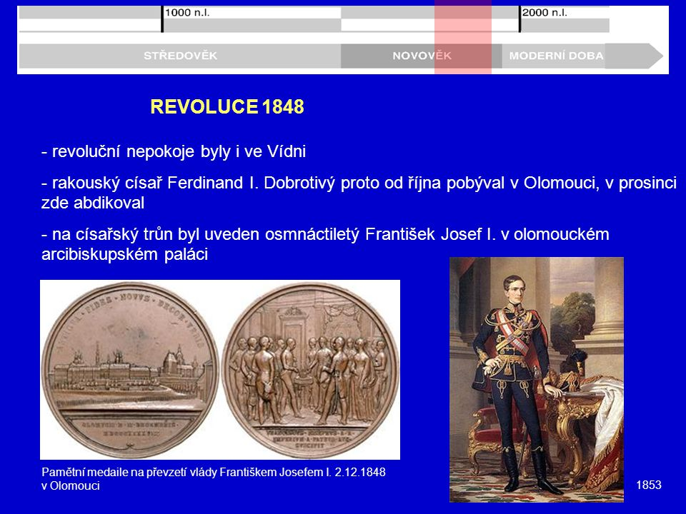 REVOLUCE 1848 - revoluční nepokoje byly i ve Vídni