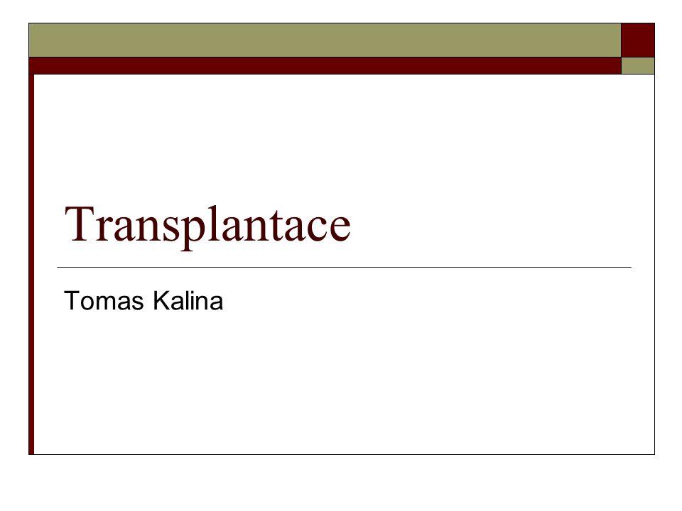 Transplantace Tomas Kalina