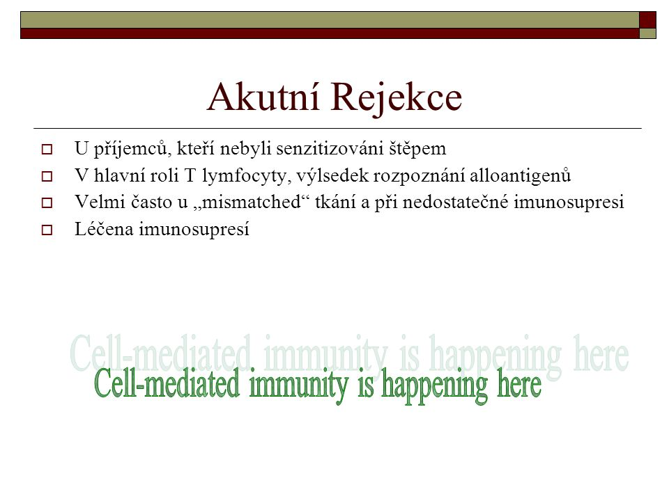 Cell-mediated immunity is happening here