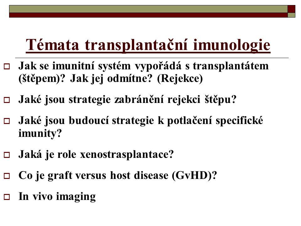 Témata transplantační imunologie