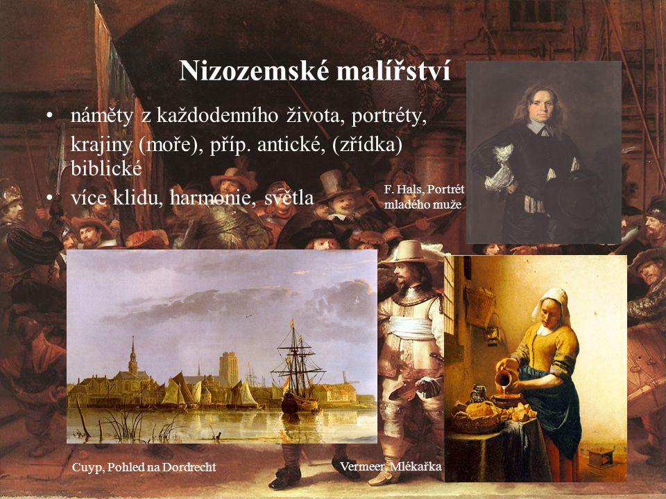 Nizozemské malířství náměty z každodenního života, portréty,