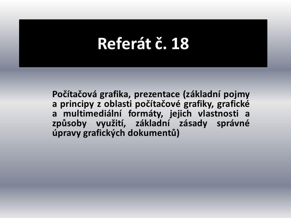 Referát č. 18