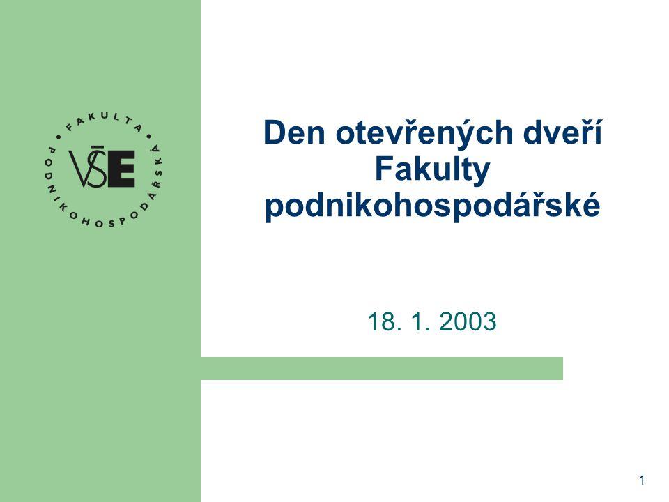Den otevřených dveří Fakulty podnikohospodářské