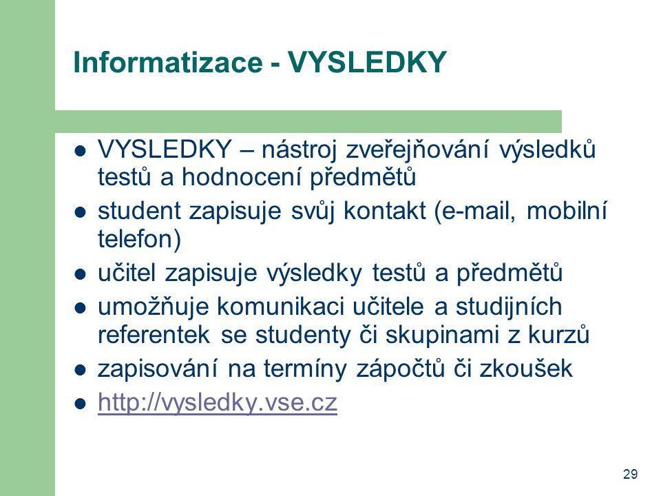 Informatizace - VYSLEDKY