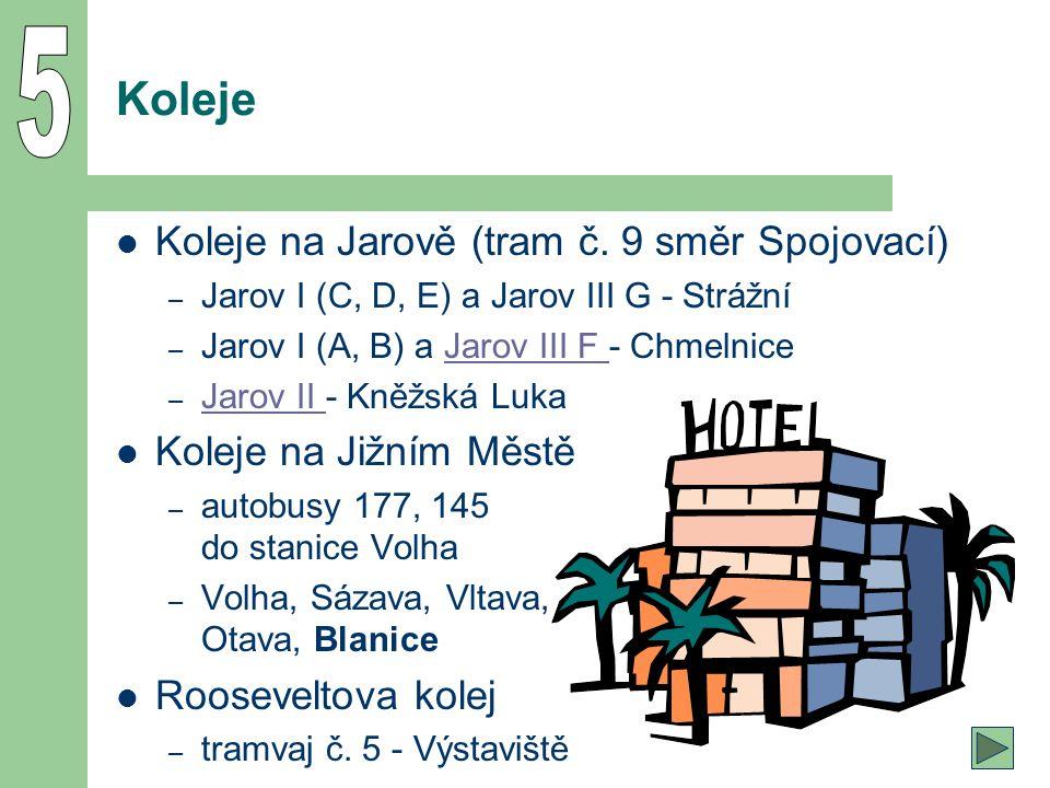 5 Koleje Koleje na Jarově (tram č. 9 směr Spojovací)