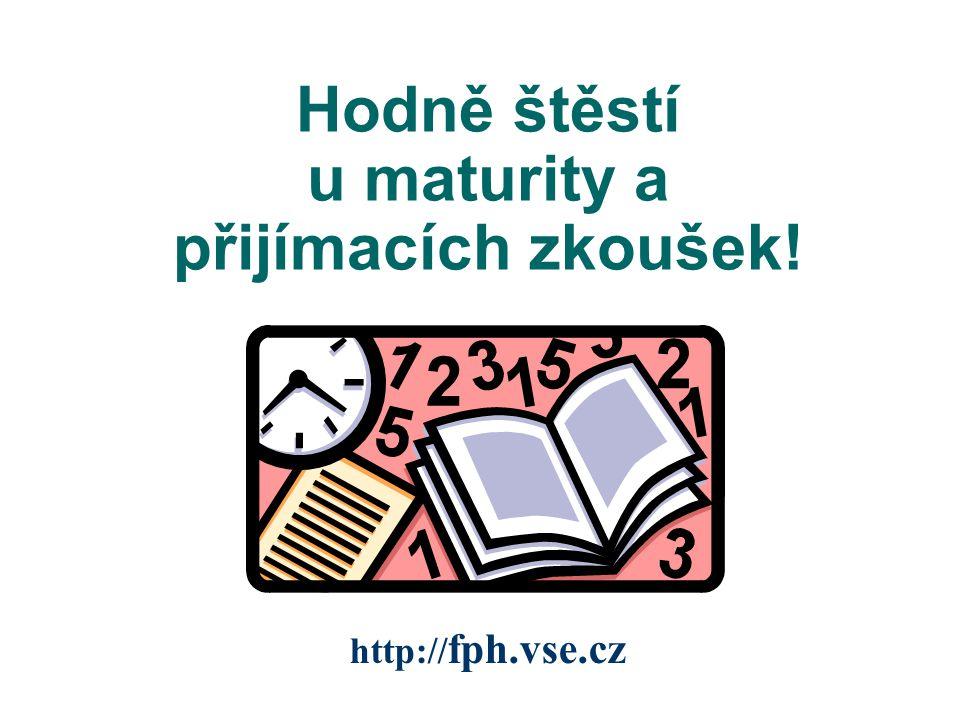 Hodně štěstí u maturity a přijímacích zkoušek!