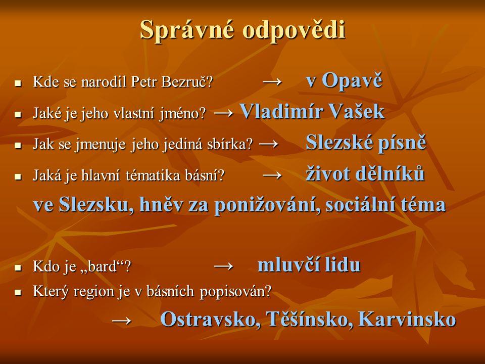 Správné odpovědi ve Slezsku, hněv za ponižování, sociální téma