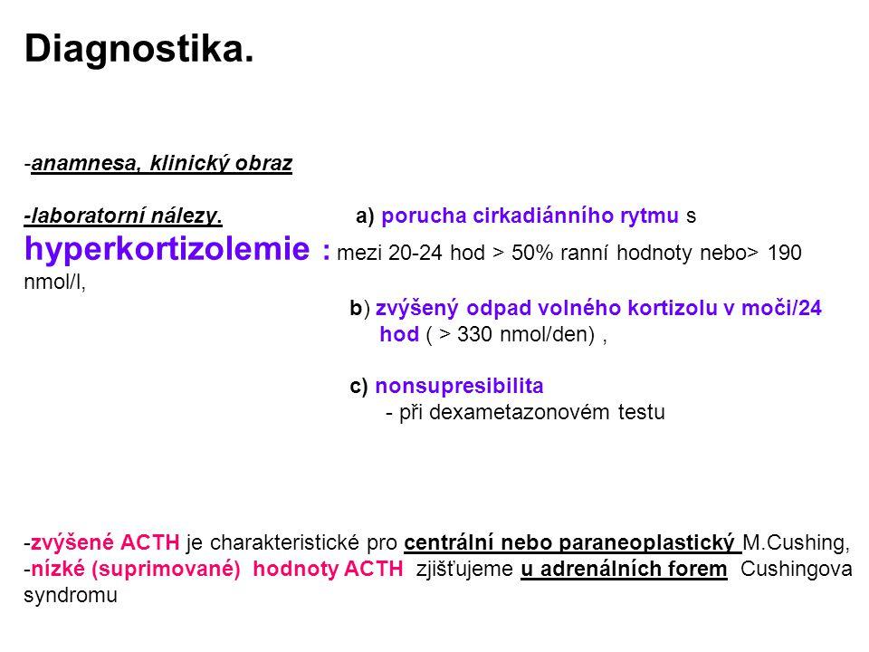 Diagnostika. -anamnesa, klinický obraz