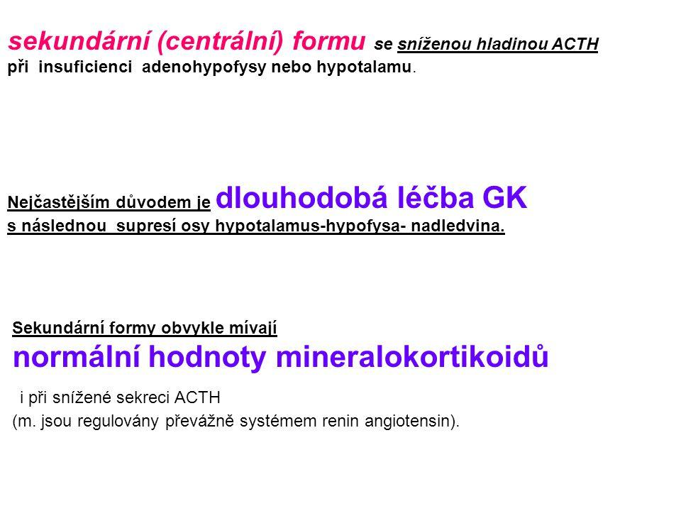 i při snížené sekreci ACTH