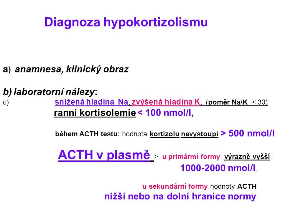 a) anamnesa, klinický obraz laboratorní nálezy: