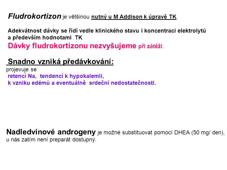 Nadledvinové androgeny je možné substituovat pomocí DHEA (50 mg/ den),