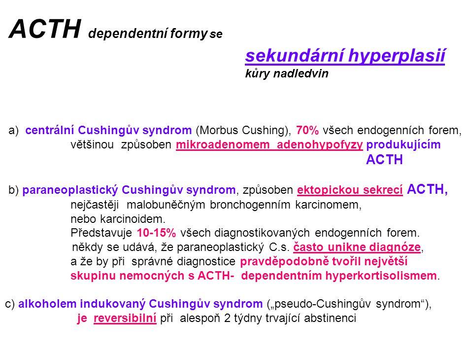 ACTH dependentní formy se