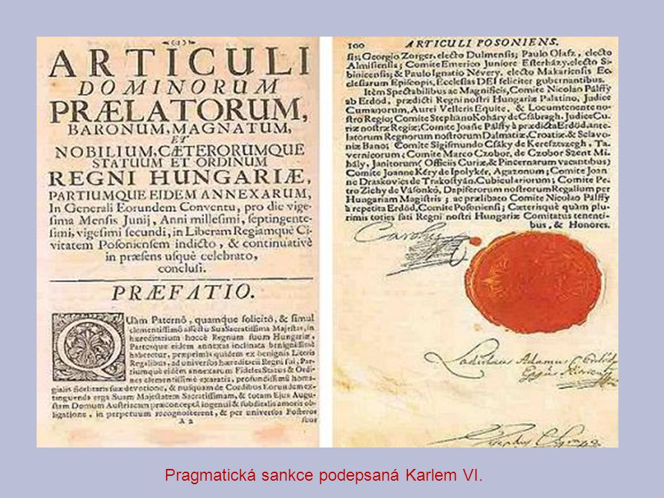 Pragmatická sankce podepsaná Karlem VI.