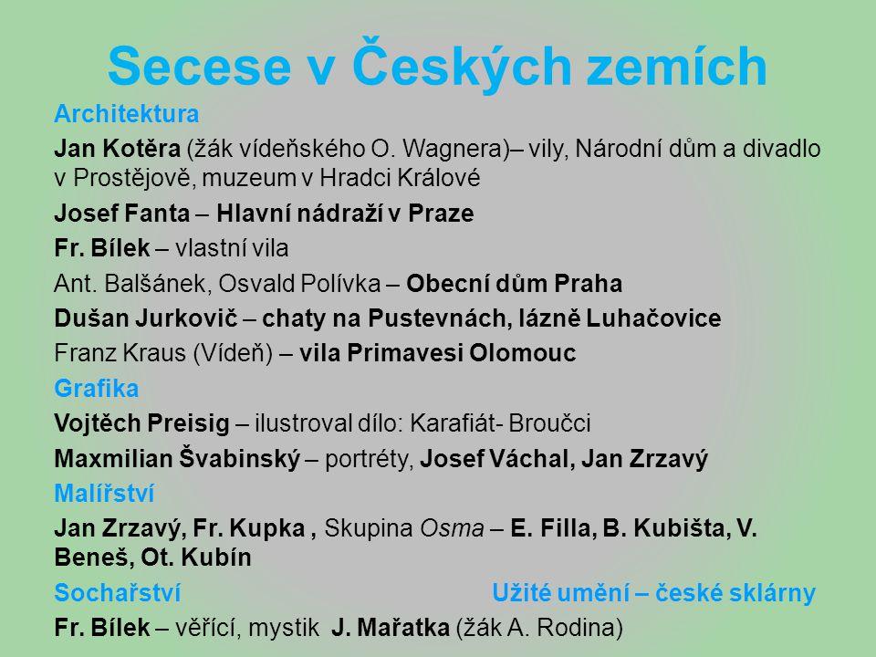 Secese v Českých zemích
