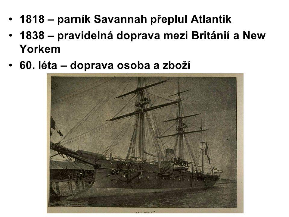 1818 – parník Savannah přeplul Atlantik