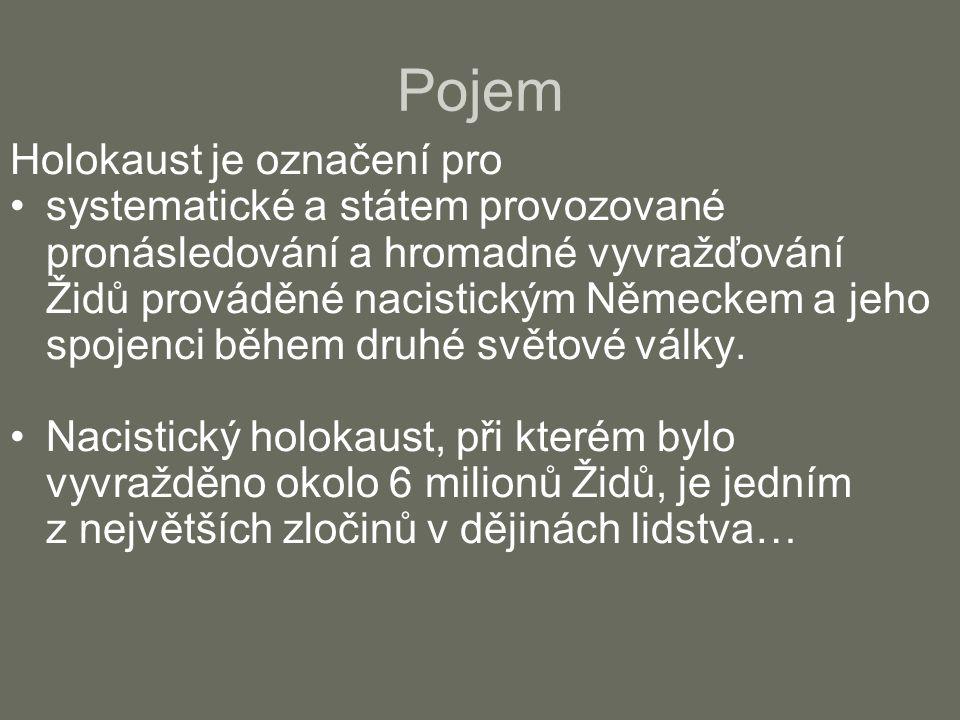 Pojem Holokaust je označení pro