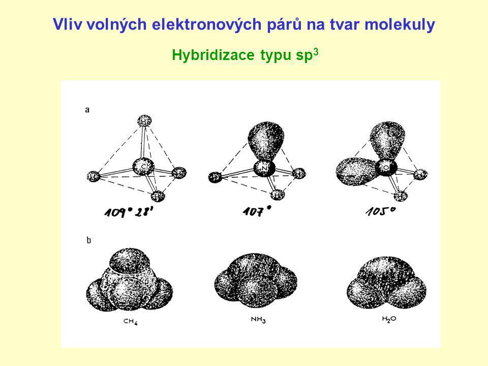 Vliv volných elektronových párů na tvar molekuly