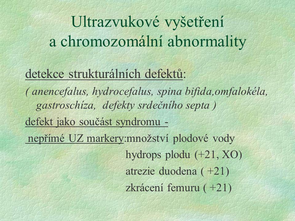 Ultrazvukové vyšetření a chromozomální abnormality