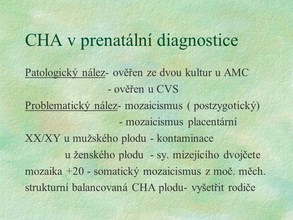 CHA v prenatální diagnostice