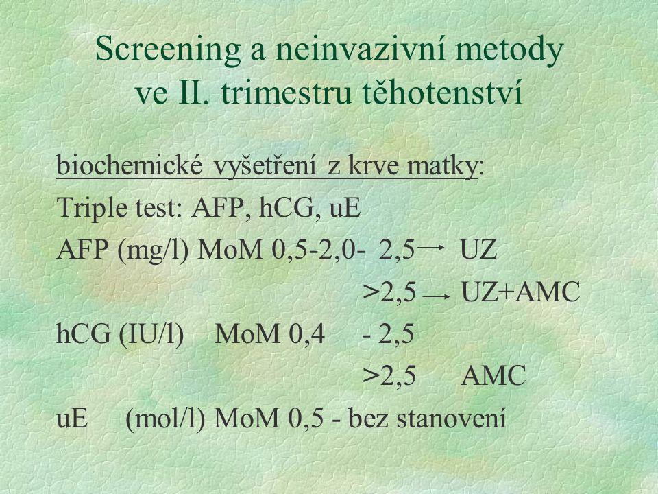 Screening a neinvazivní metody ve II. trimestru těhotenství