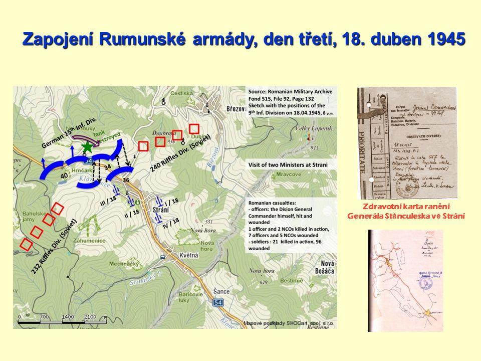 Zapojení Rumunské armády, den třetí, 18. duben 1945