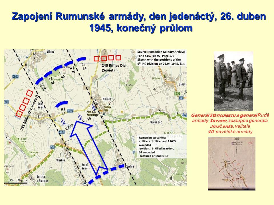 Zapojení Rumunské armády, den jedenáctý, 26. duben