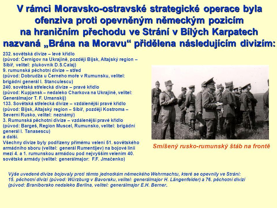 V rámci Moravsko-ostravské strategické operace byla