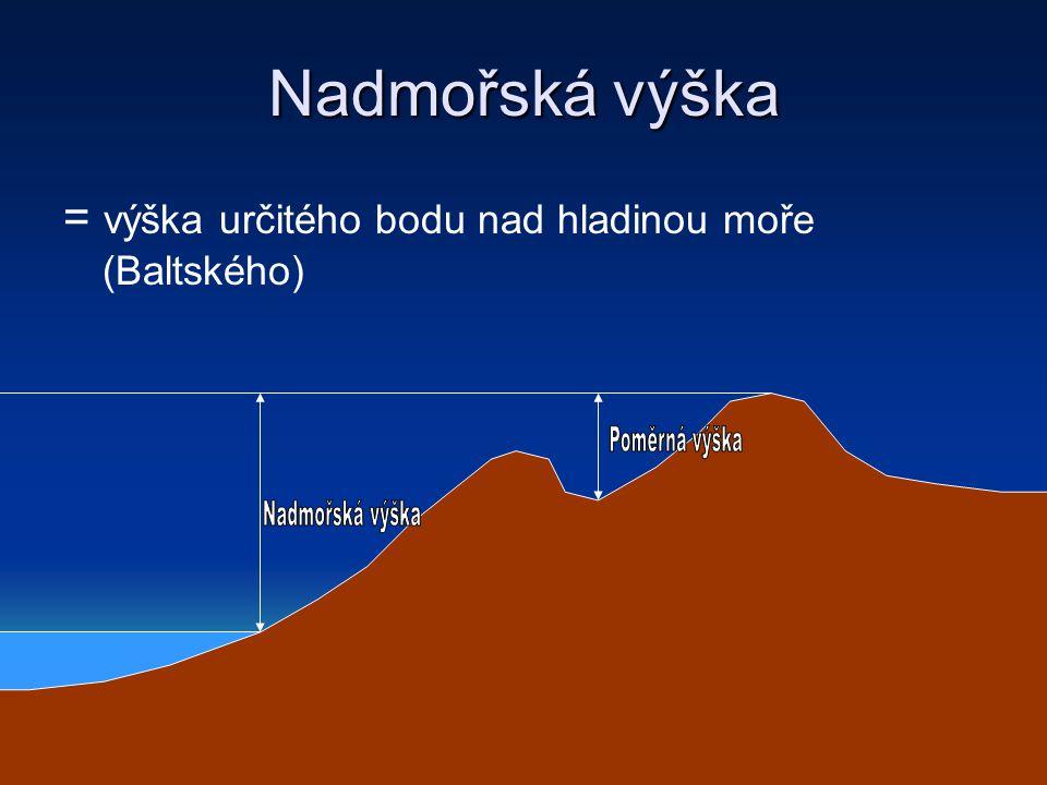 Nadmořská výška Poměrná výška Nadmořská výška