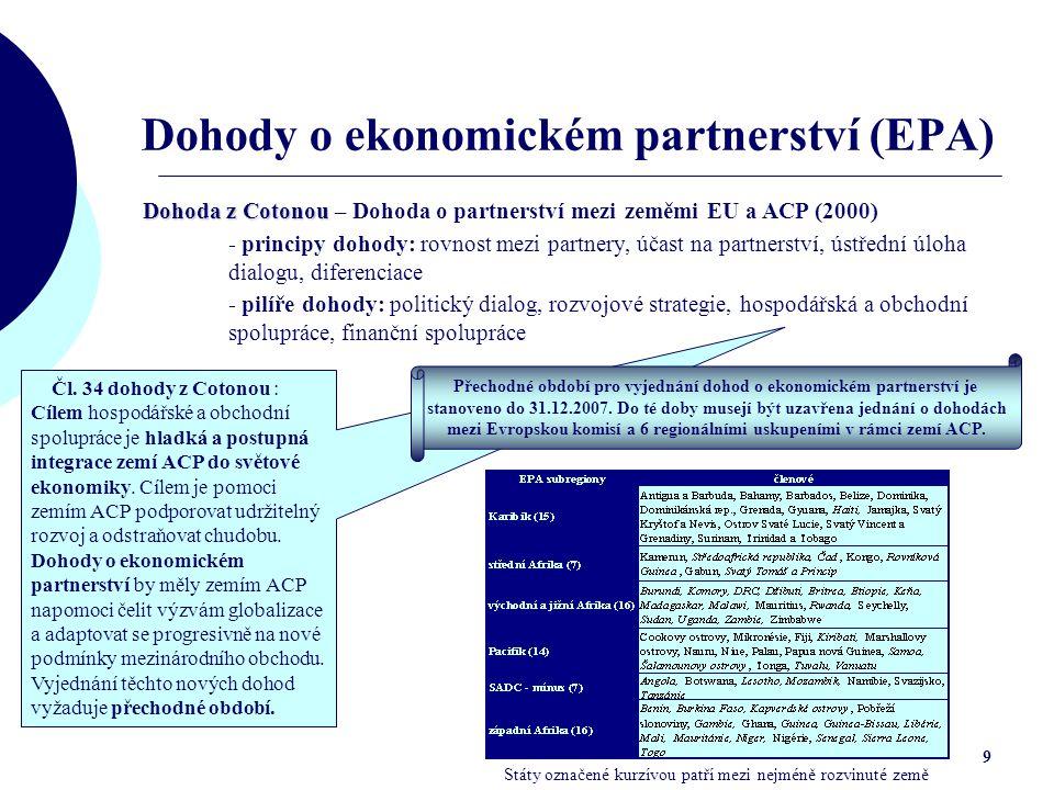 Dohody o ekonomickém partnerství (EPA)