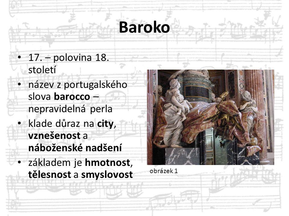 Baroko 17. – polovina 18. století
