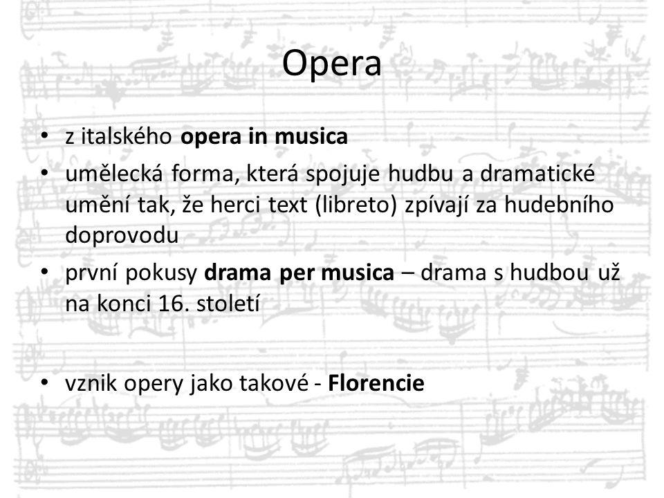 Opera z italského opera in musica