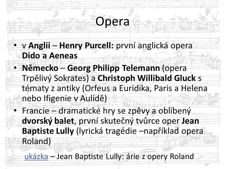 Opera v Anglii – Henry Purcell: první anglická opera Dido a Aeneas
