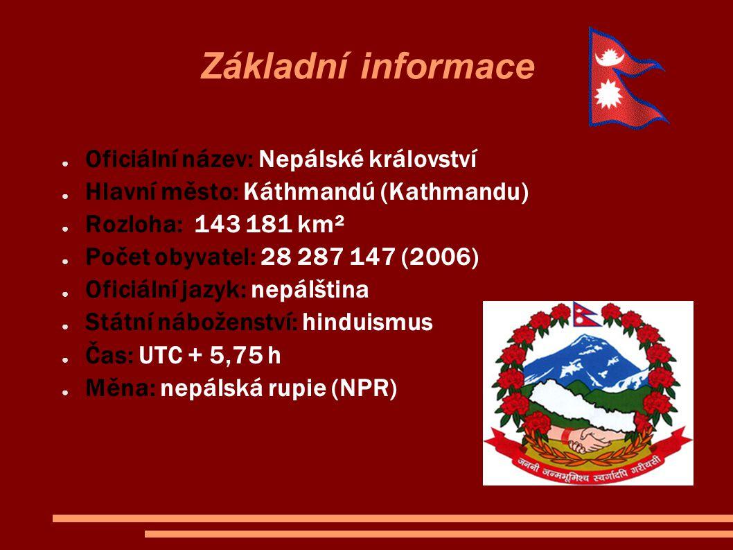 Základní informace Oficiální název: Nepálské království