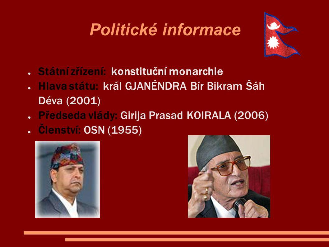 Politické informace Státní zřízení: konstituční monarchie