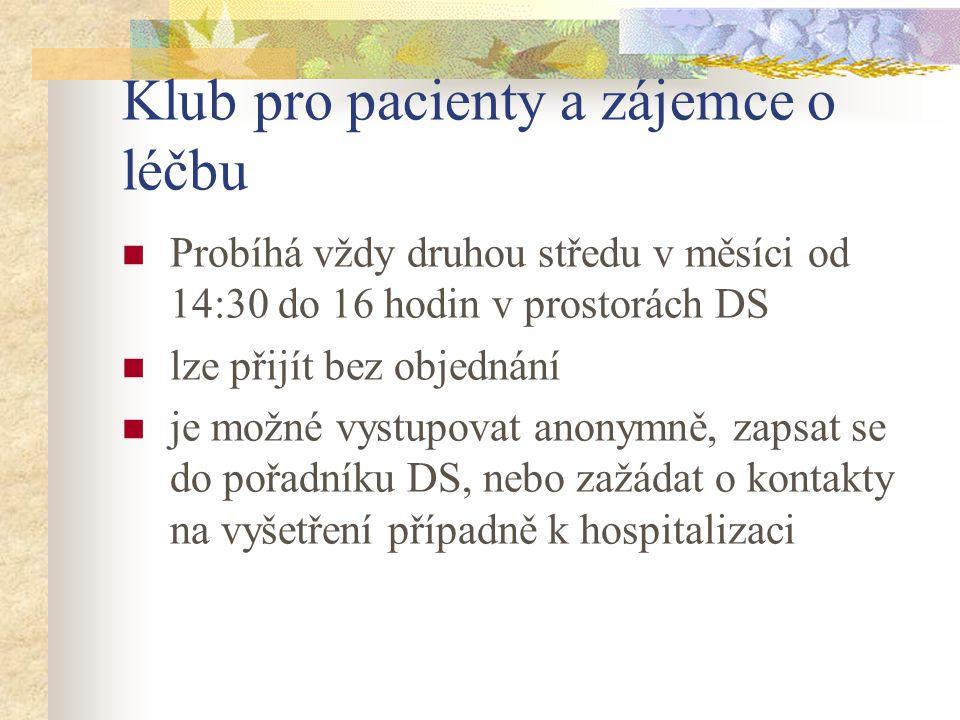 Klub pro pacienty a zájemce o léčbu