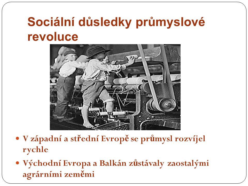 Sociální důsledky průmyslové revoluce
