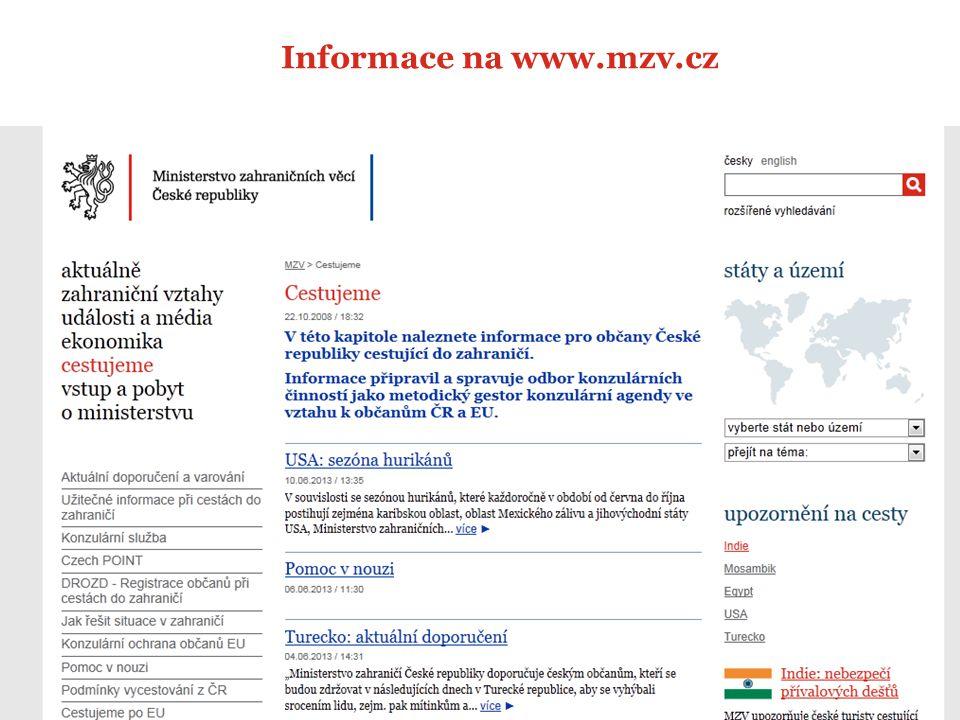 Informace na www.mzv.cz