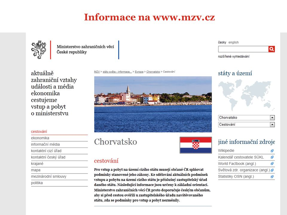 Informace na www.mzv.cz 12