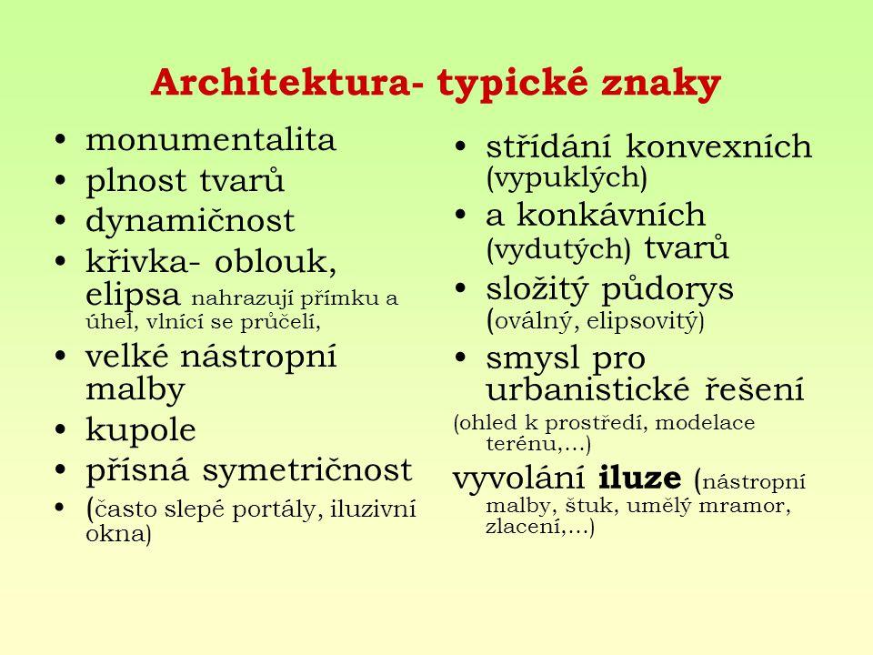 Architektura- typické znaky