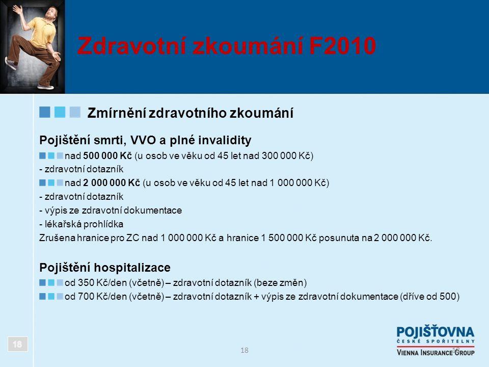 Zdravotní zkoumání F2010 Zmírnění zdravotního zkoumání