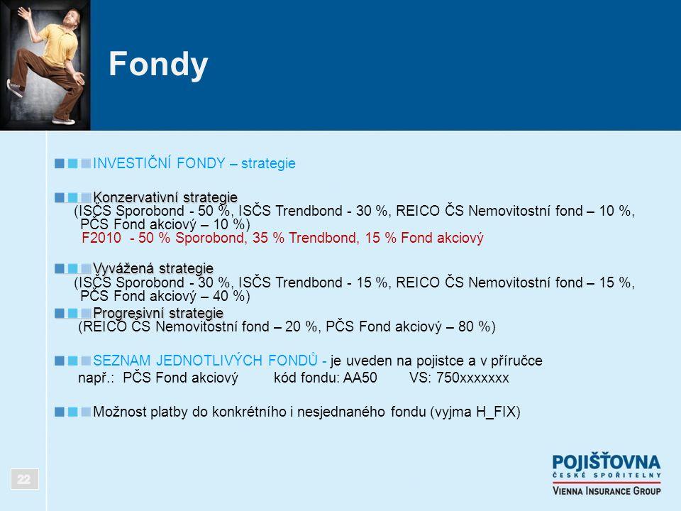 Fondy INVESTIČNÍ FONDY – strategie Konzervativní strategie