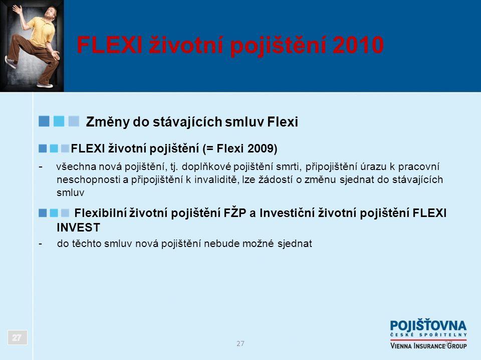 FLEXI životní pojištění 2010