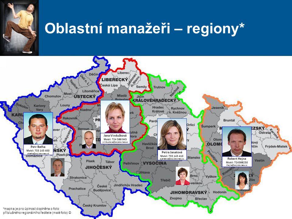 Oblastní manažeři – regiony*